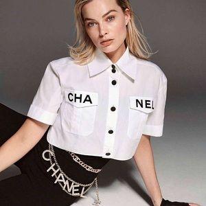 CHA NEL Women's Collared Shirt